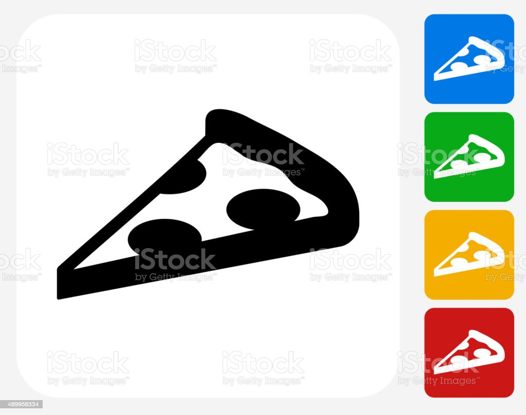 Pizza Slice Icon Flat Graphic Design vector art illustration