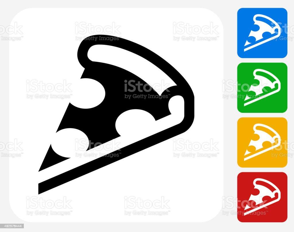Pizza Slice Icon Flat Graphic Design vector art illustration