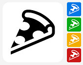Pizza Slice Icon Flat Graphic Design
