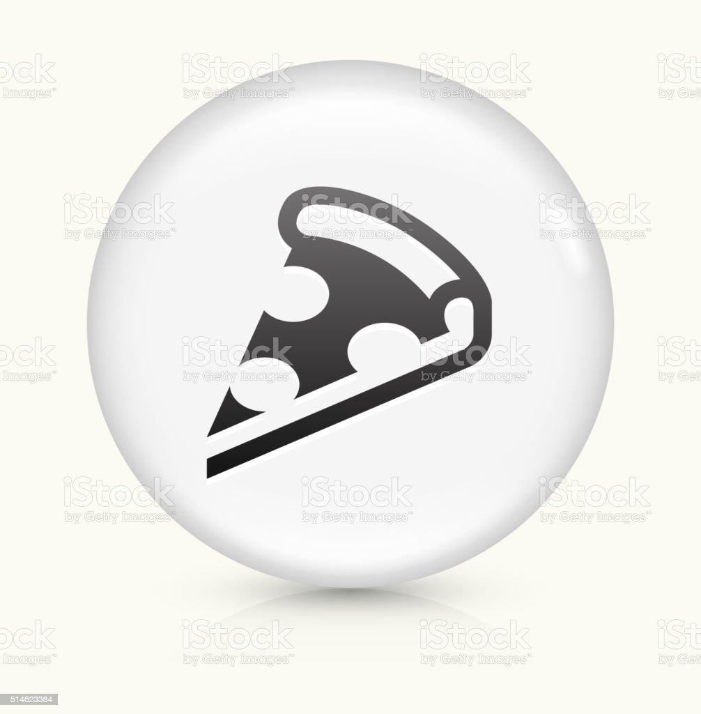 Pizza Slice icon on white round vector button vector art illustration