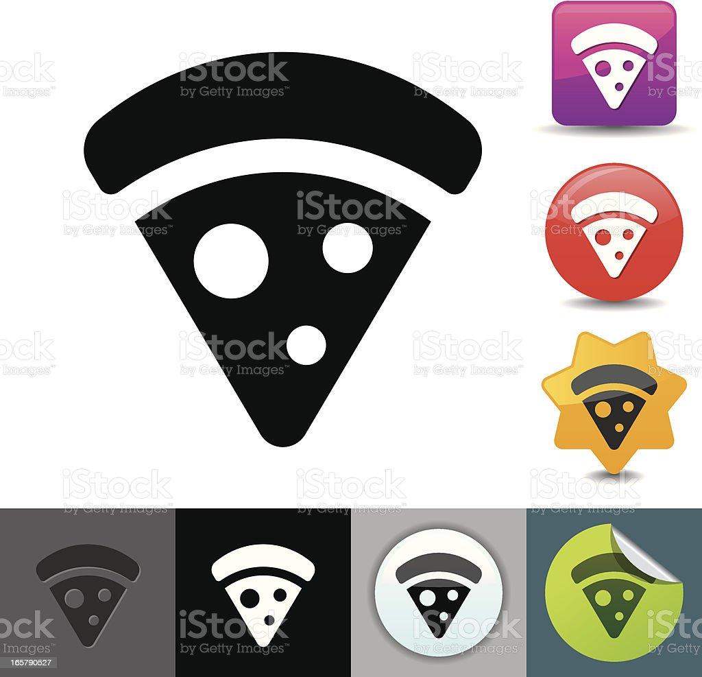 Pizza slice icon | solicosi series royalty-free stock vector art