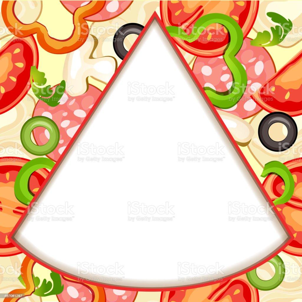 Pizza slice royalty-free stock vector art