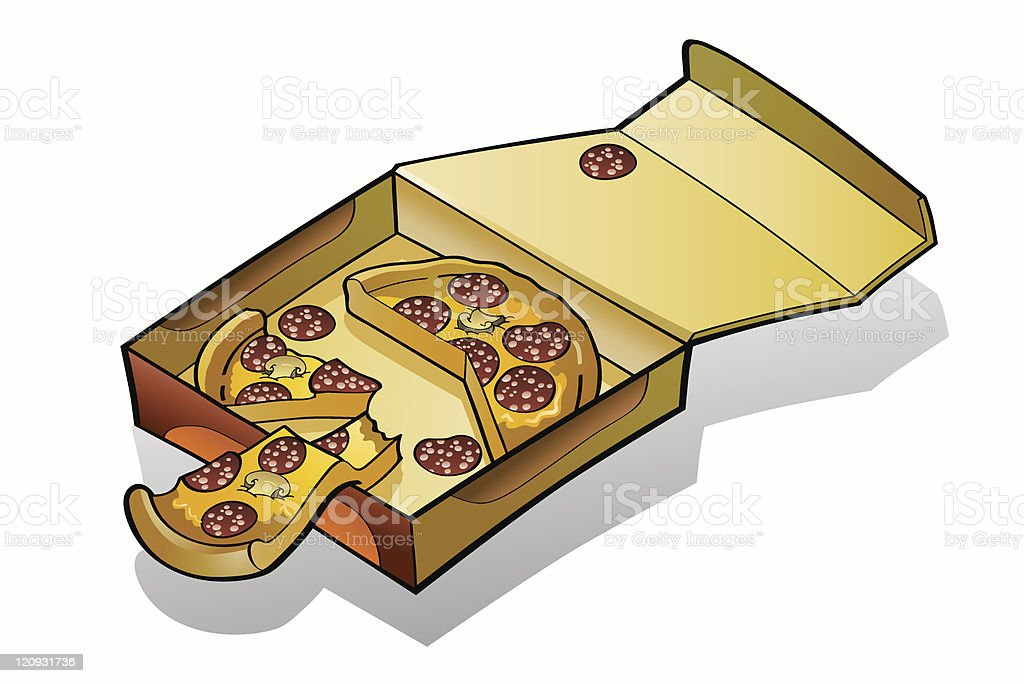Pizza slices box royalty-free stock vector art