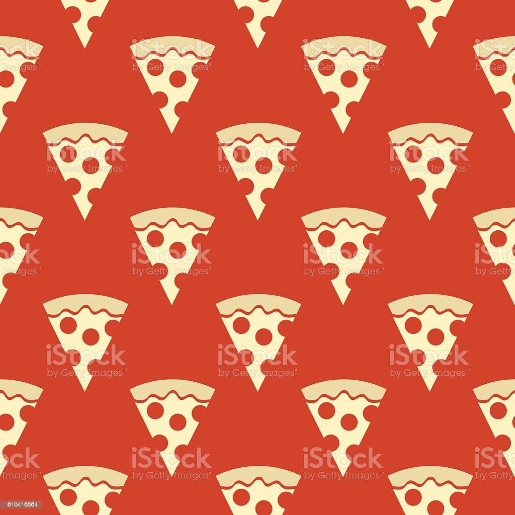 Pizza Slices Seamless Pattern vector art illustration