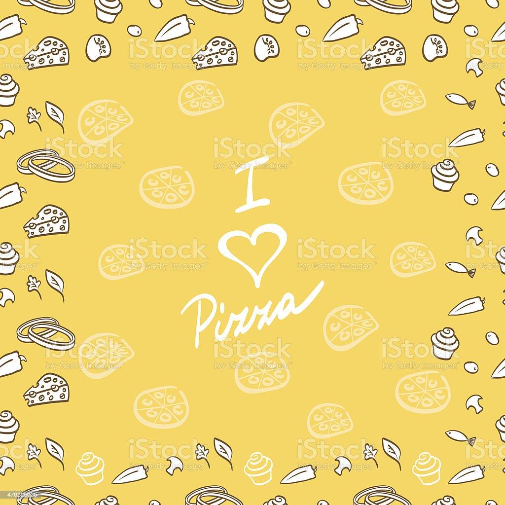 Pizza vector background pattern illustration royalty-free stock vector art
