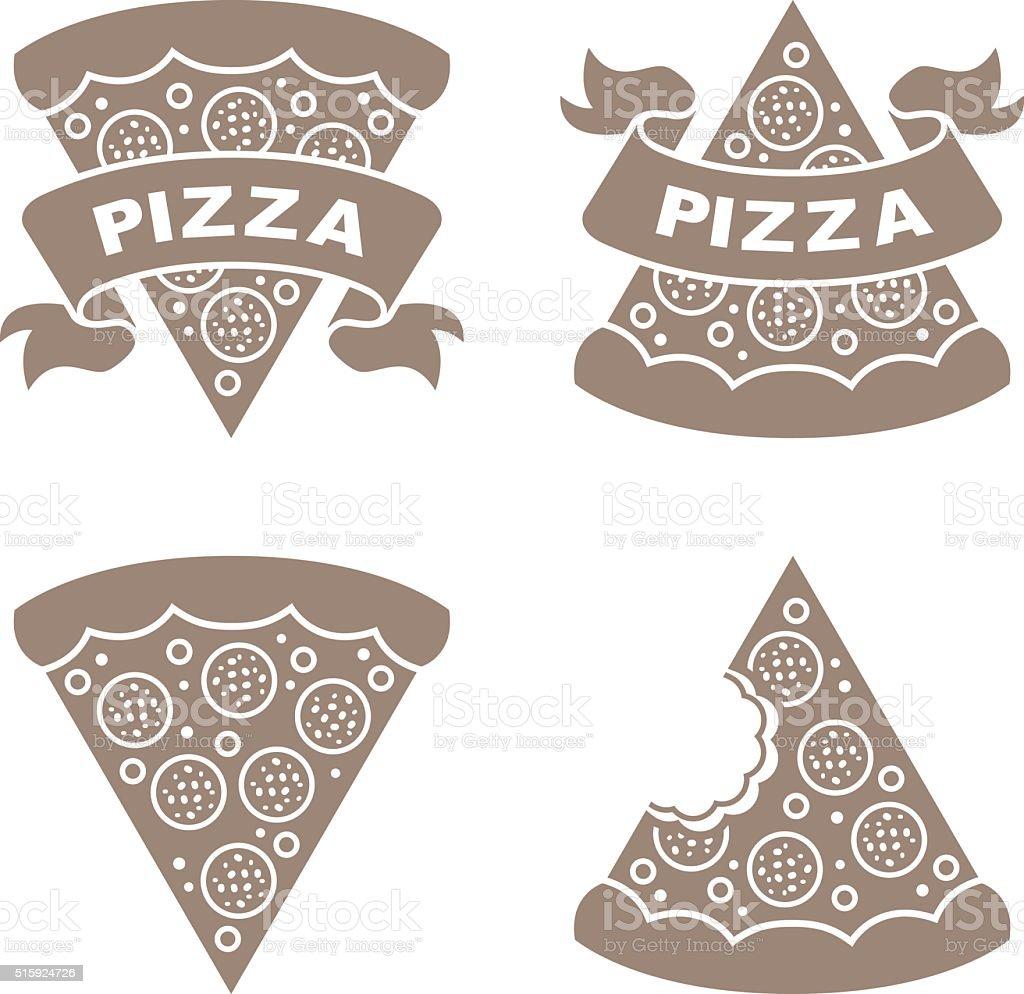 Pizza vector icons set vector art illustration