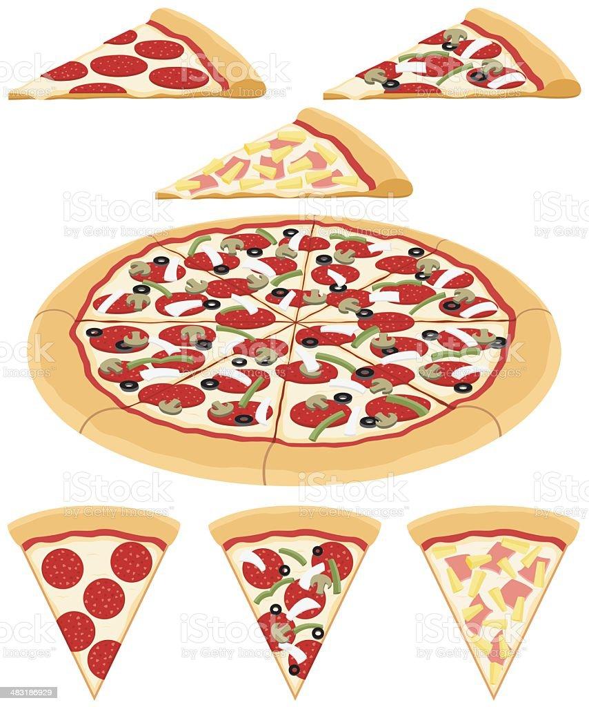 Pizza vector art illustration
