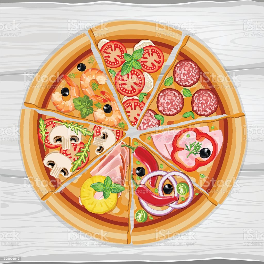 Pizza vector art illustration