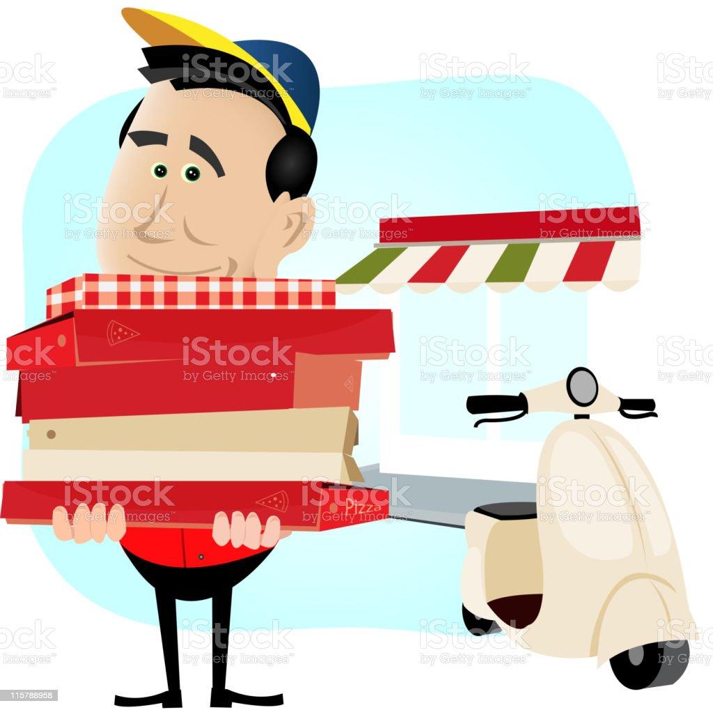 Pizzaman royalty-free stock vector art