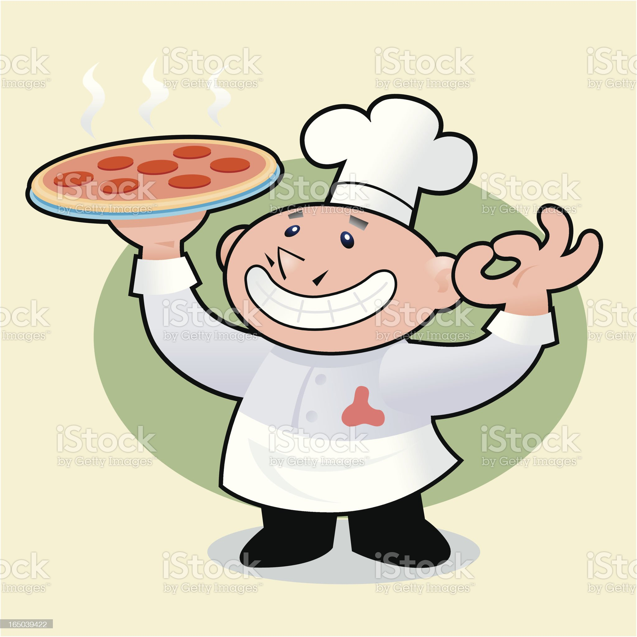Pizzaman royalty-free stock vector art