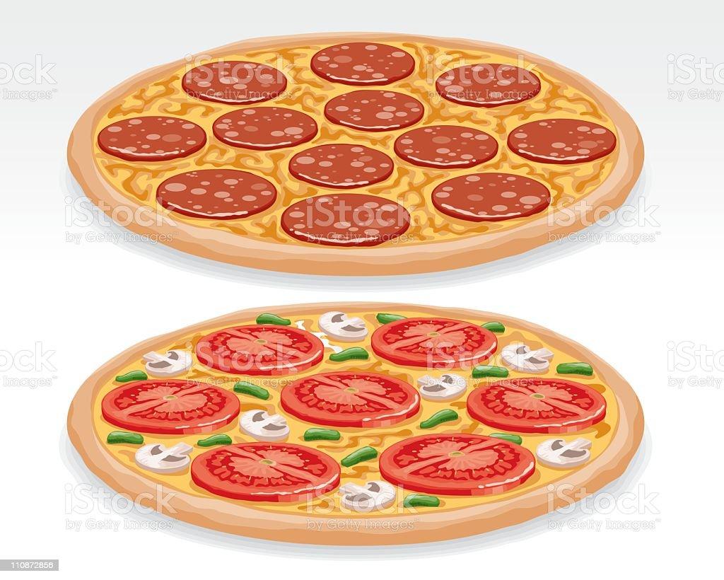 Pizzas vector art illustration