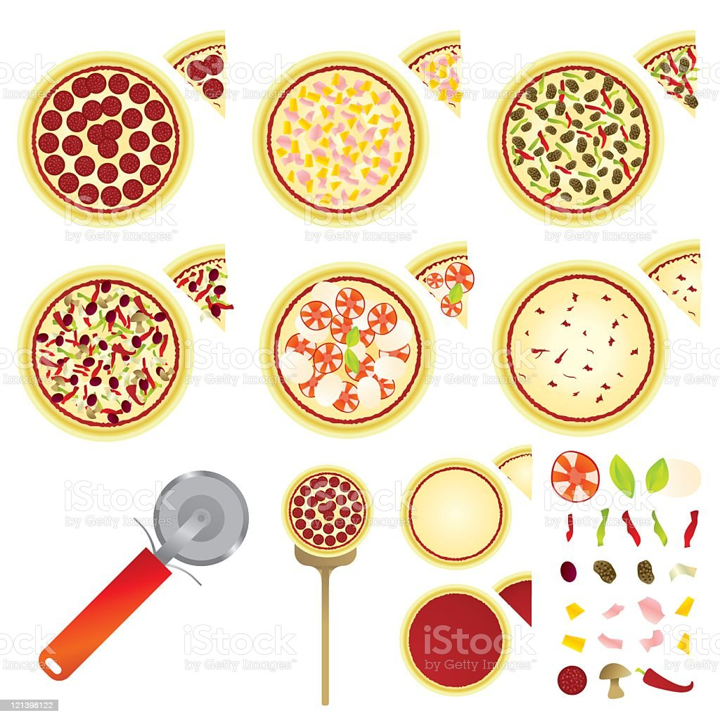 Pizzas royalty-free stock vector art