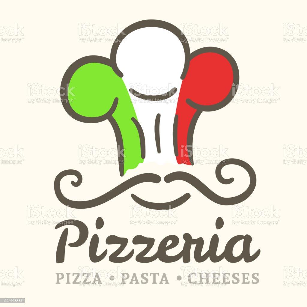 Pizzeria icon vector art illustration