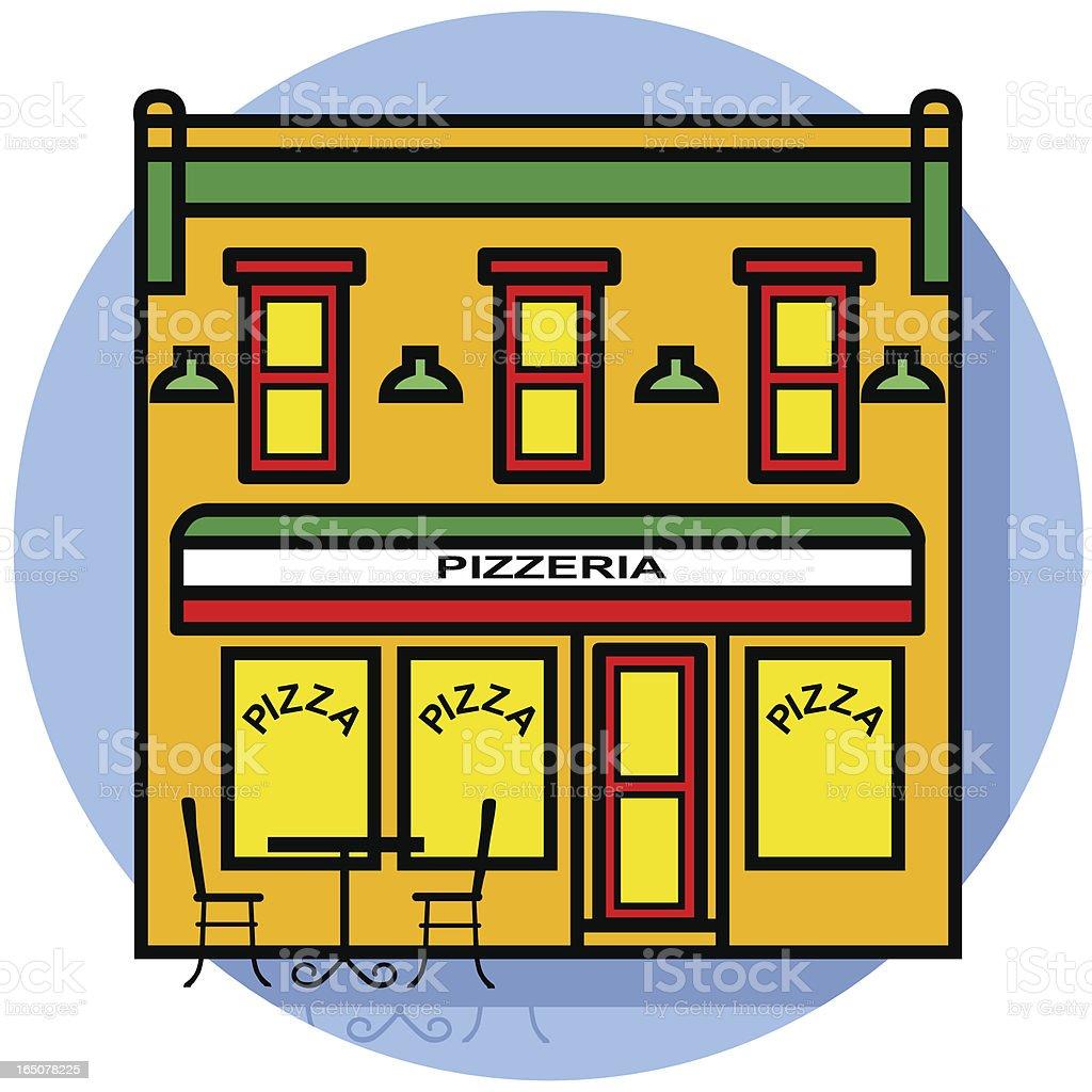 pizzeria vector art illustration