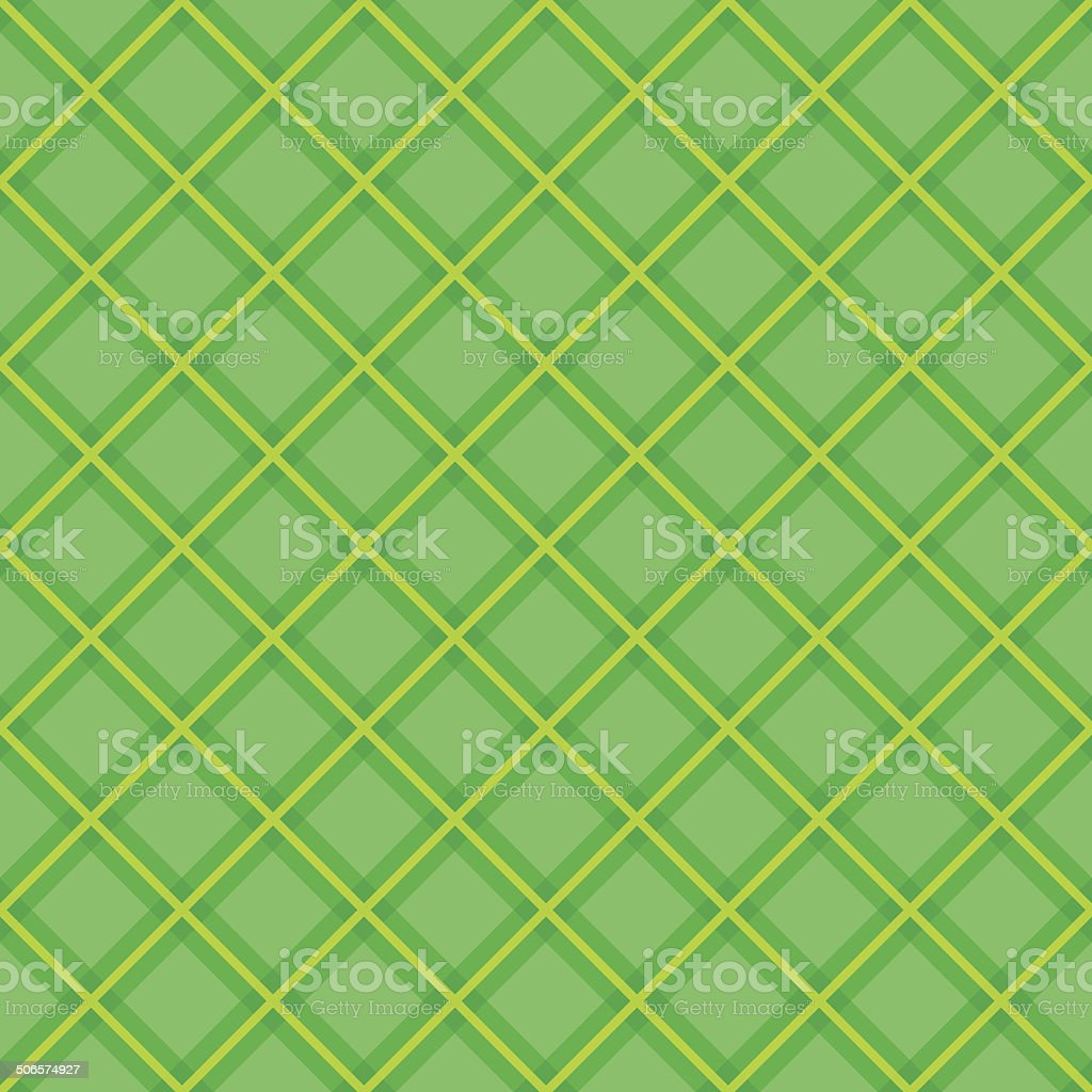 Plaid fabric background with yellow and green. Abstract seamless pattern. royalty-free stock vector art