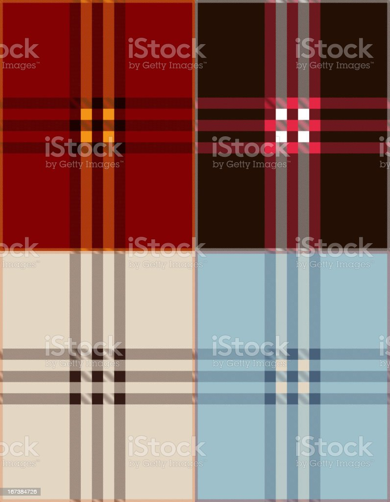 Plaid texture background vector illustration royalty-free stock vector art