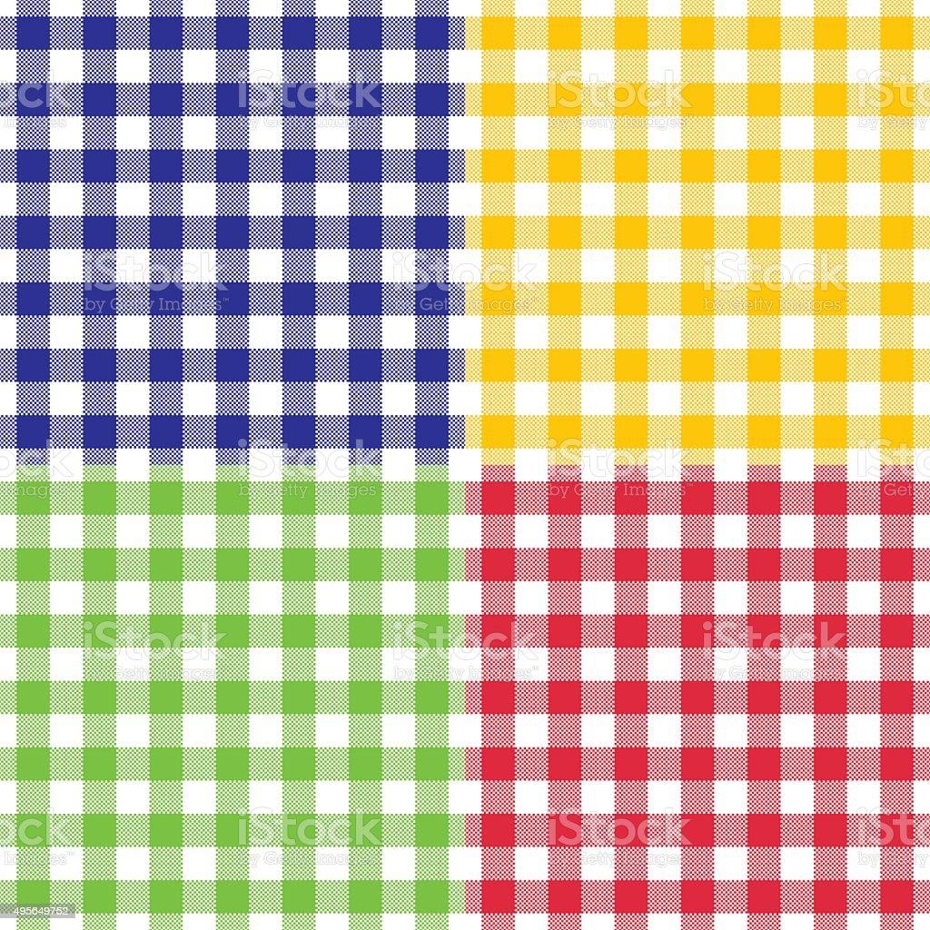 Vector patr n a cuadros cuadro vichy en cuatro diferentes colores brillantes illustracion libre - Cuadros de colores ...
