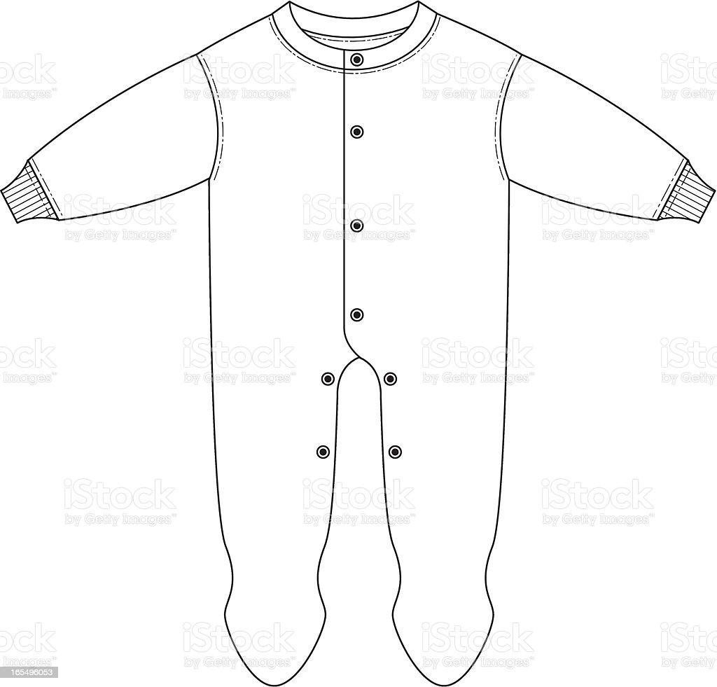 Plain Babies Sleep Suit royalty-free stock vector art