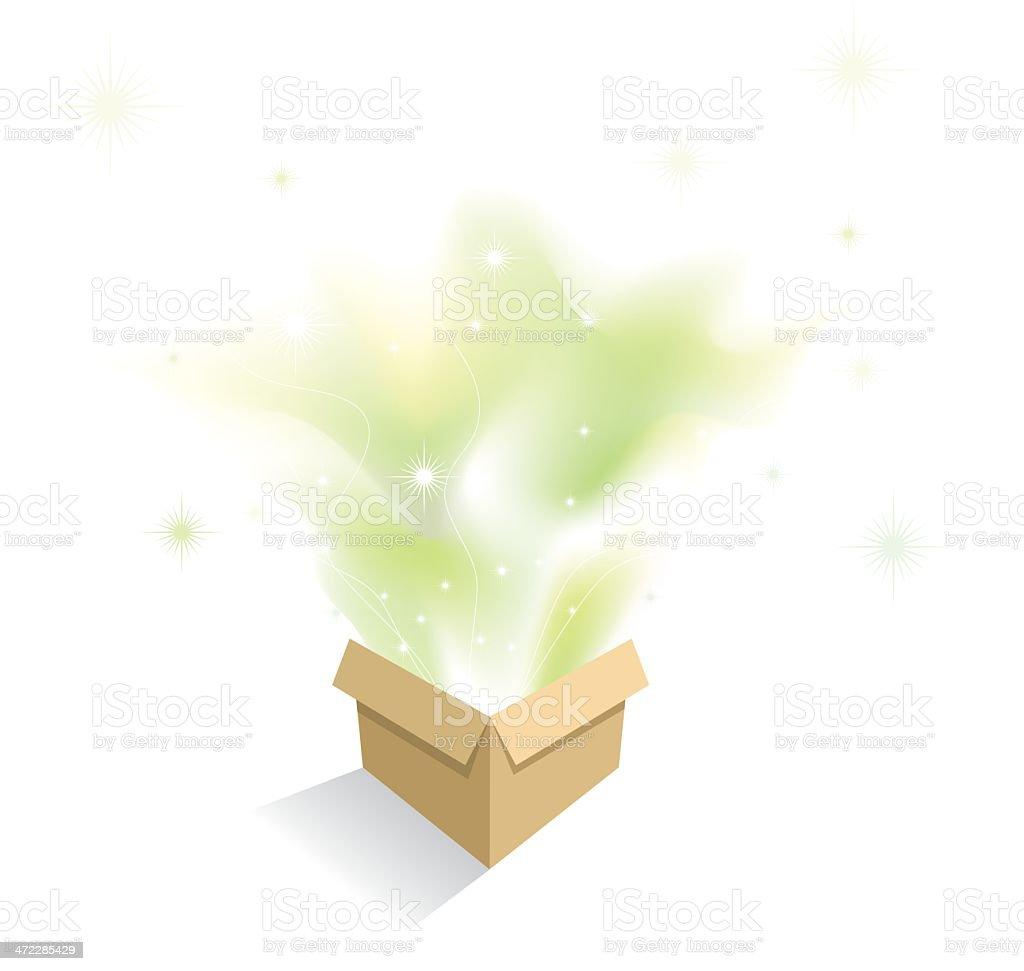 Plain Brown box full of surprises royalty-free stock vector art