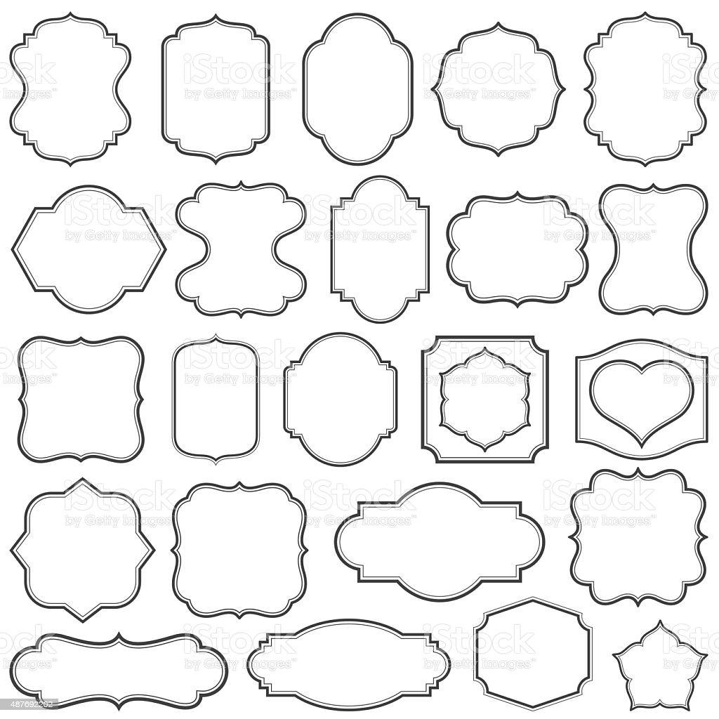 Plain Frames II vector art illustration