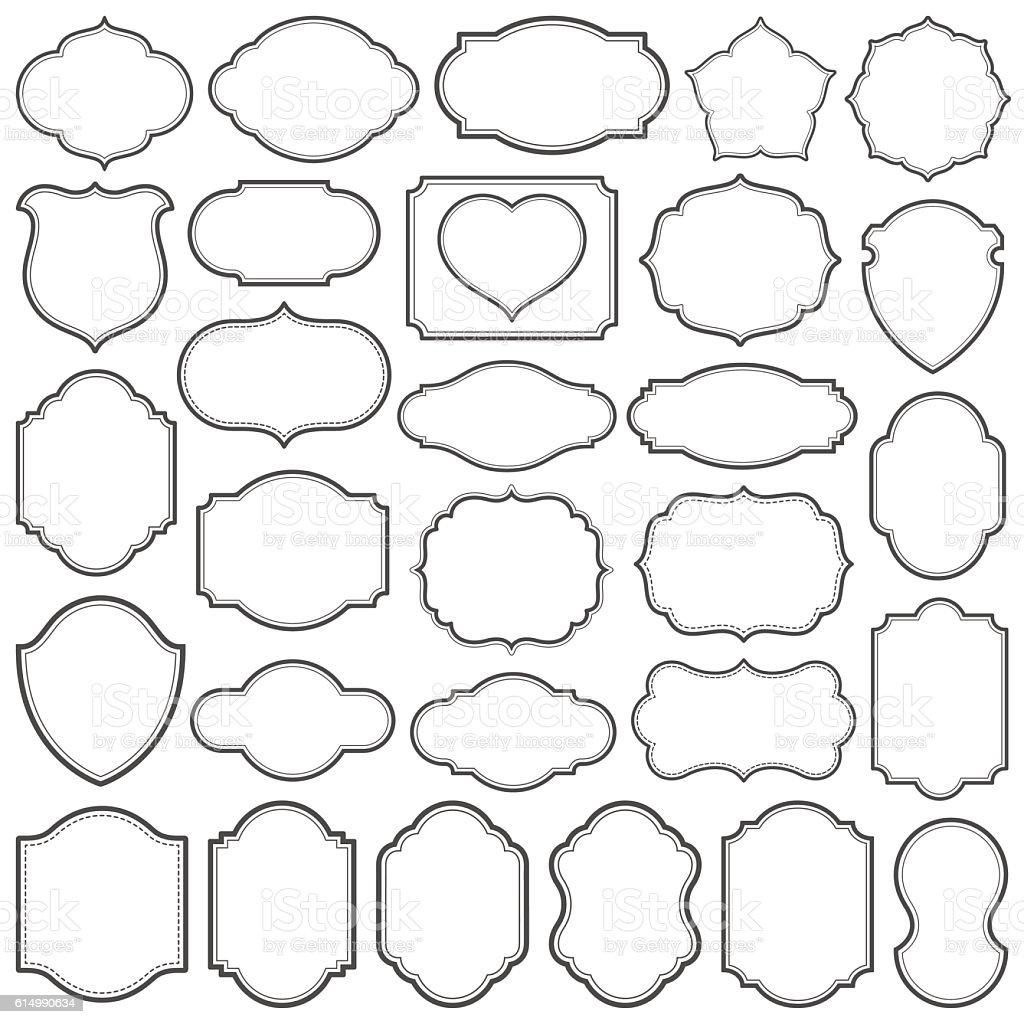 Plain Frames IV vector art illustration