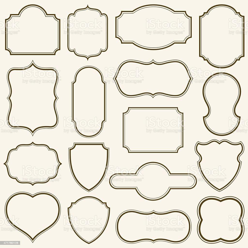 Plain Frames vector art illustration