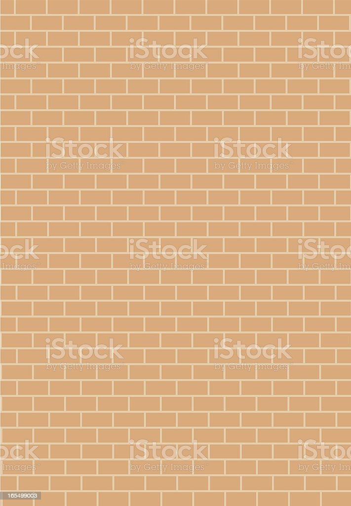 A plain orange-brown brick wall background royalty-free stock vector art