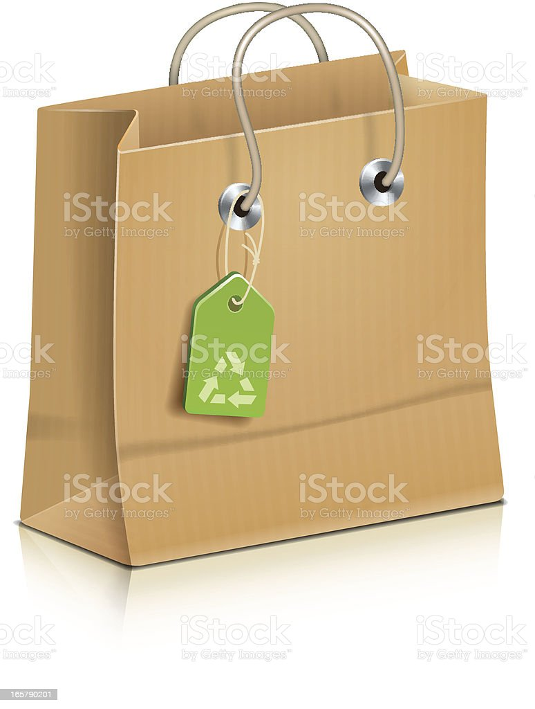 Plain Paper Bag Icon royalty-free stock vector art