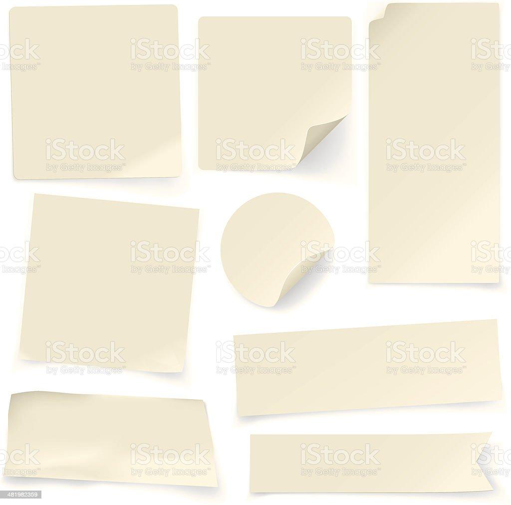 Plain Paper Notes vector art illustration