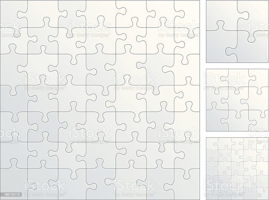 Plain puzzle pieces royalty-free stock vector art