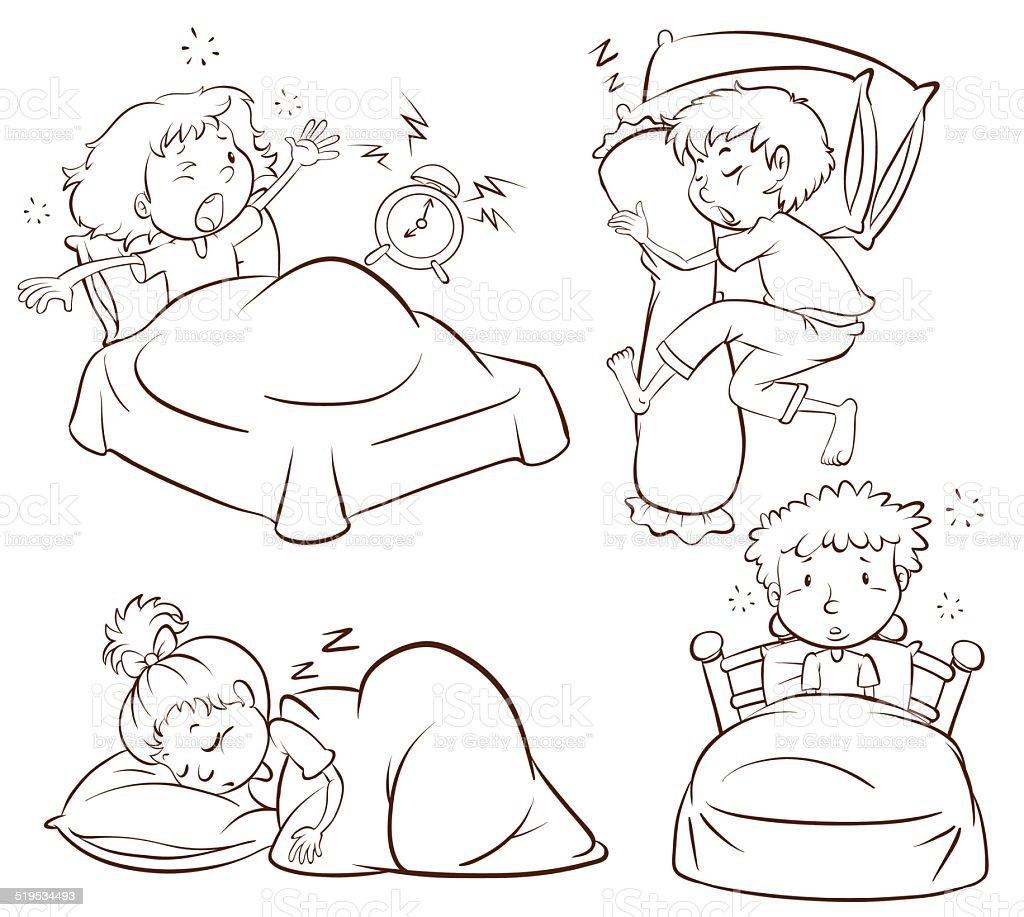 Bedroom drawing for kids - Adult Backgrounds Bed Bedroom Boys Plain Sketch Of Kids
