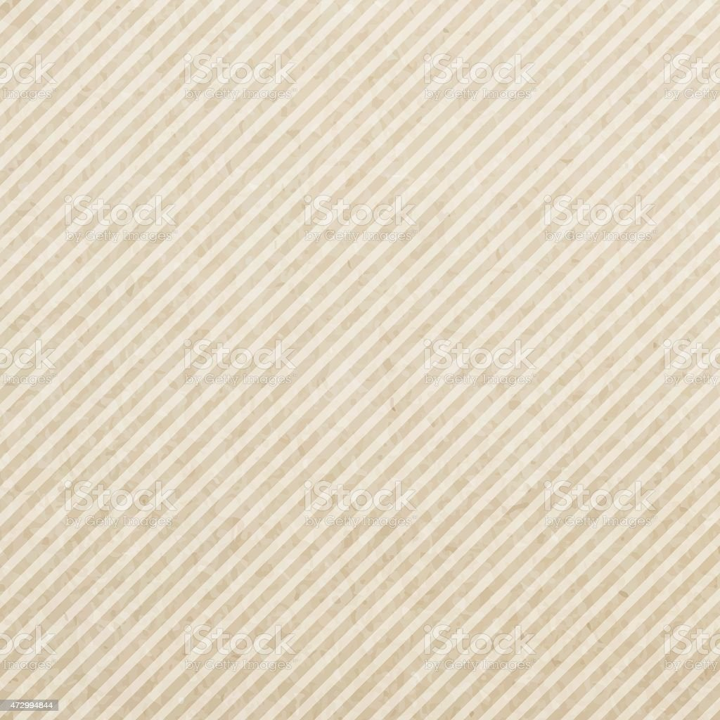 Plain square of paper with brown and cream diagonal stripes vector art illustration