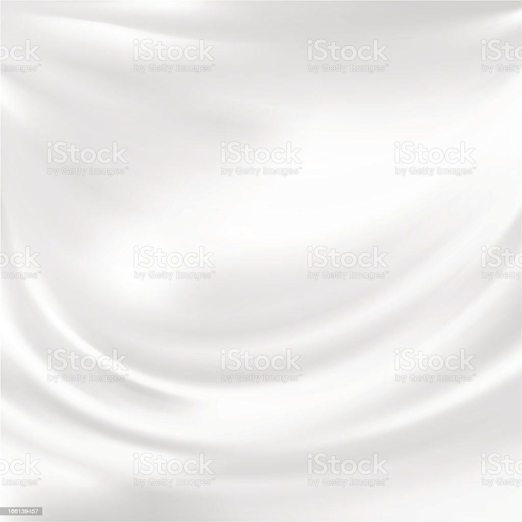 Plain white background with silk texture vector art illustration