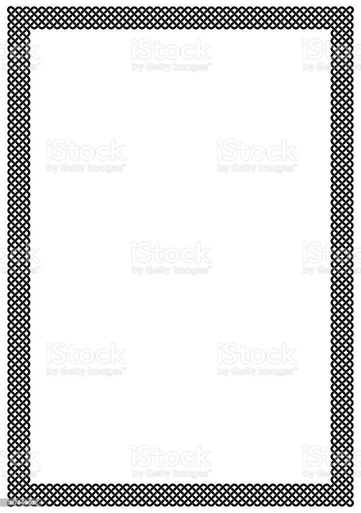 Plait frame blank page vector art illustration