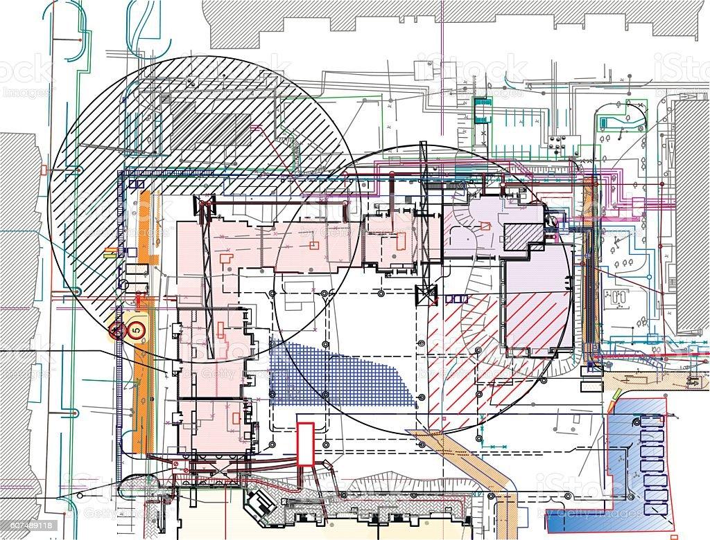 plan architecture vector art illustration