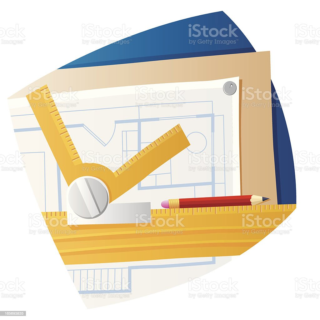 Plan of a house royalty-free stock vector art