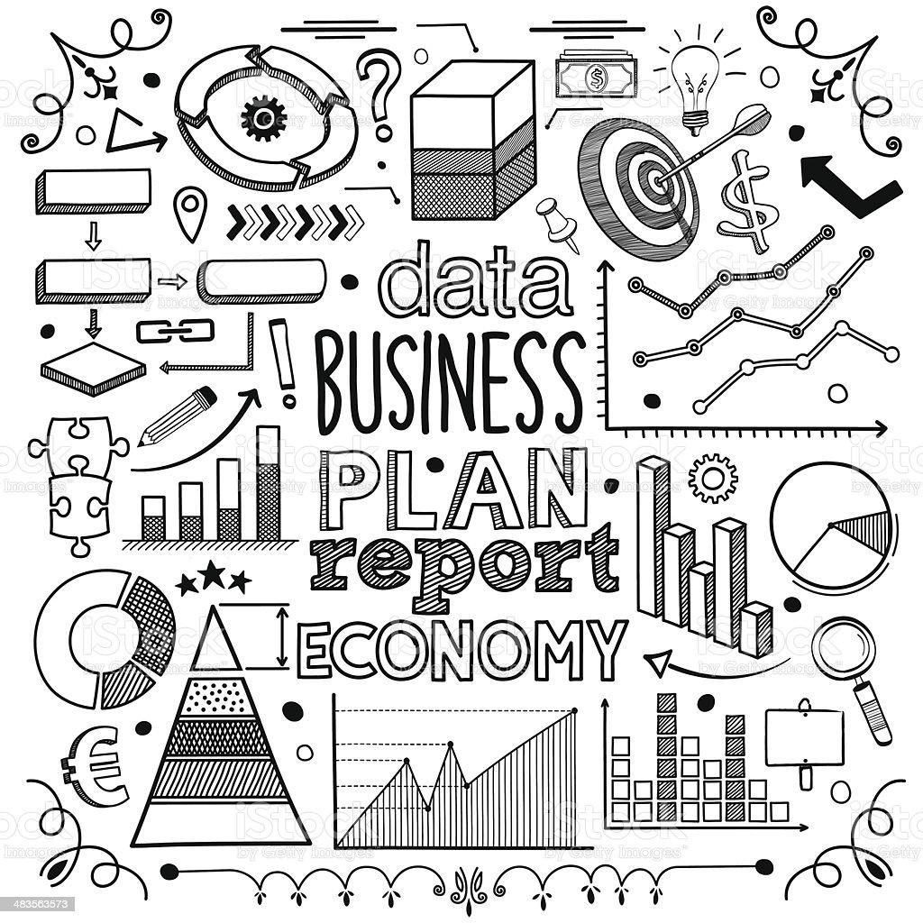 Plan & Report vector art illustration