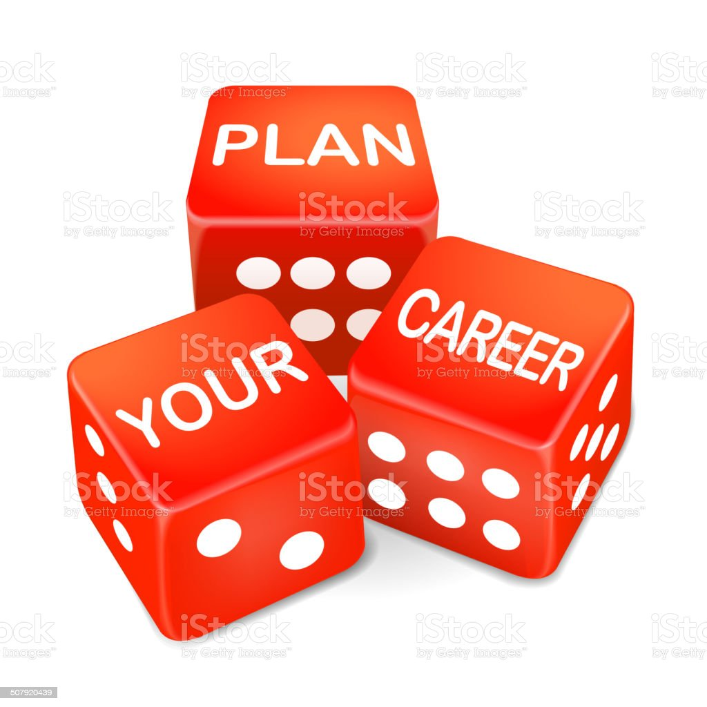 plan your career words on three red dice stock vector art plan your career words on three red dice royalty stock vector art