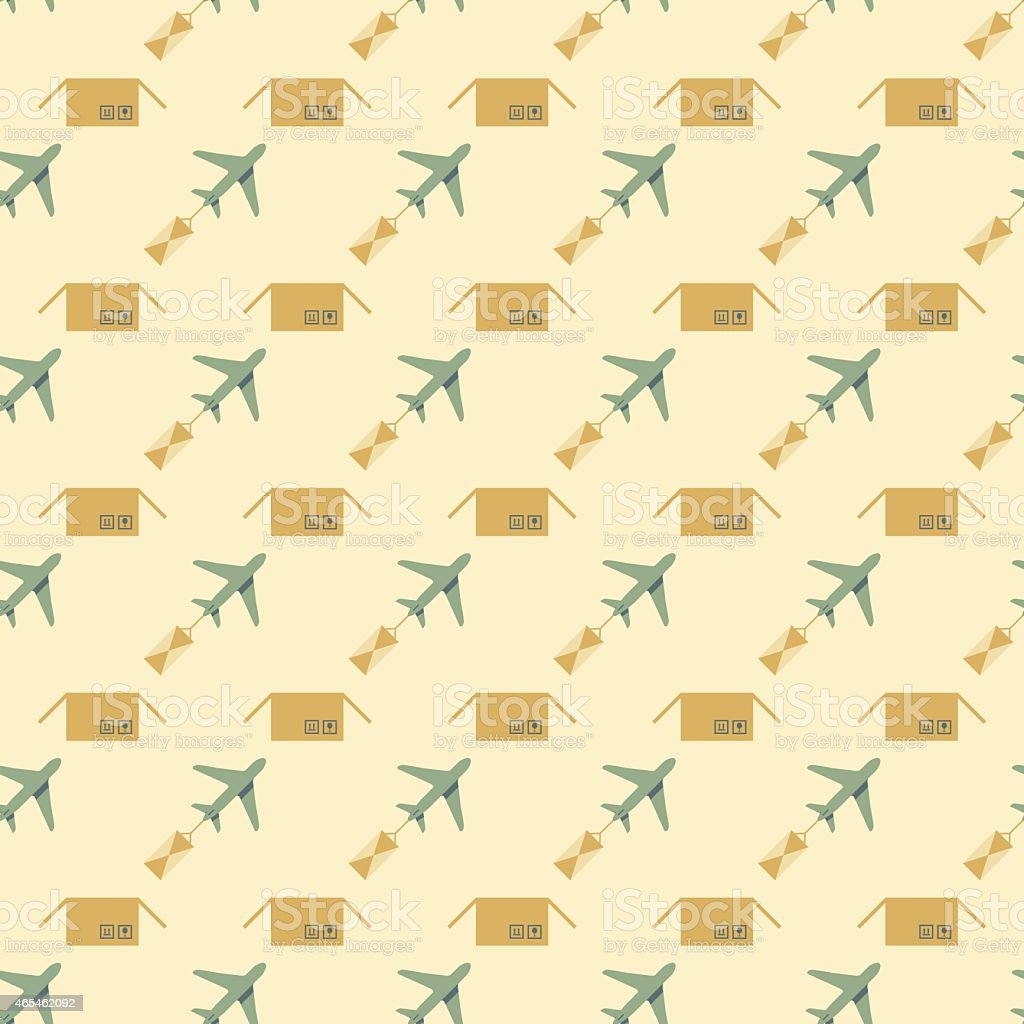 plane and sending pattern vector art illustration