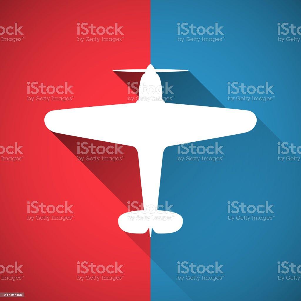 Plane design vector art illustration