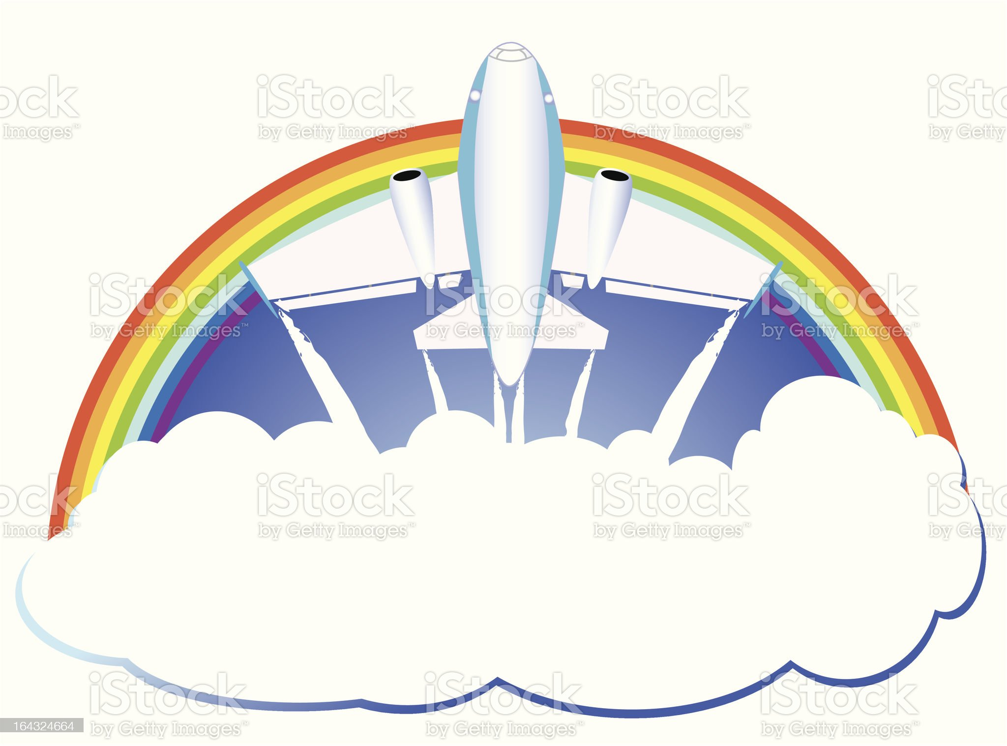 plane fly royalty-free stock vector art