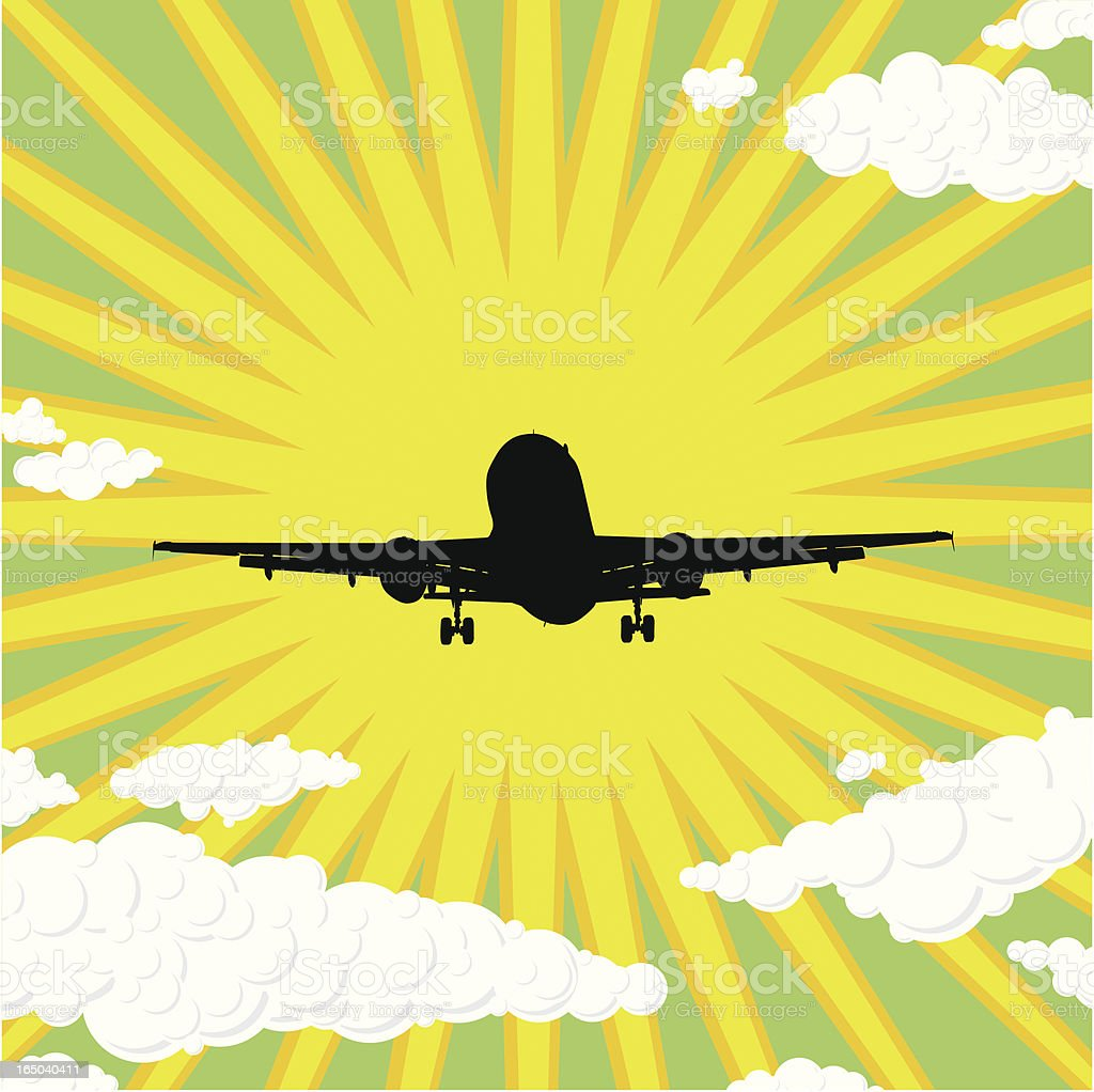 Plane Graphic royalty-free stock vector art