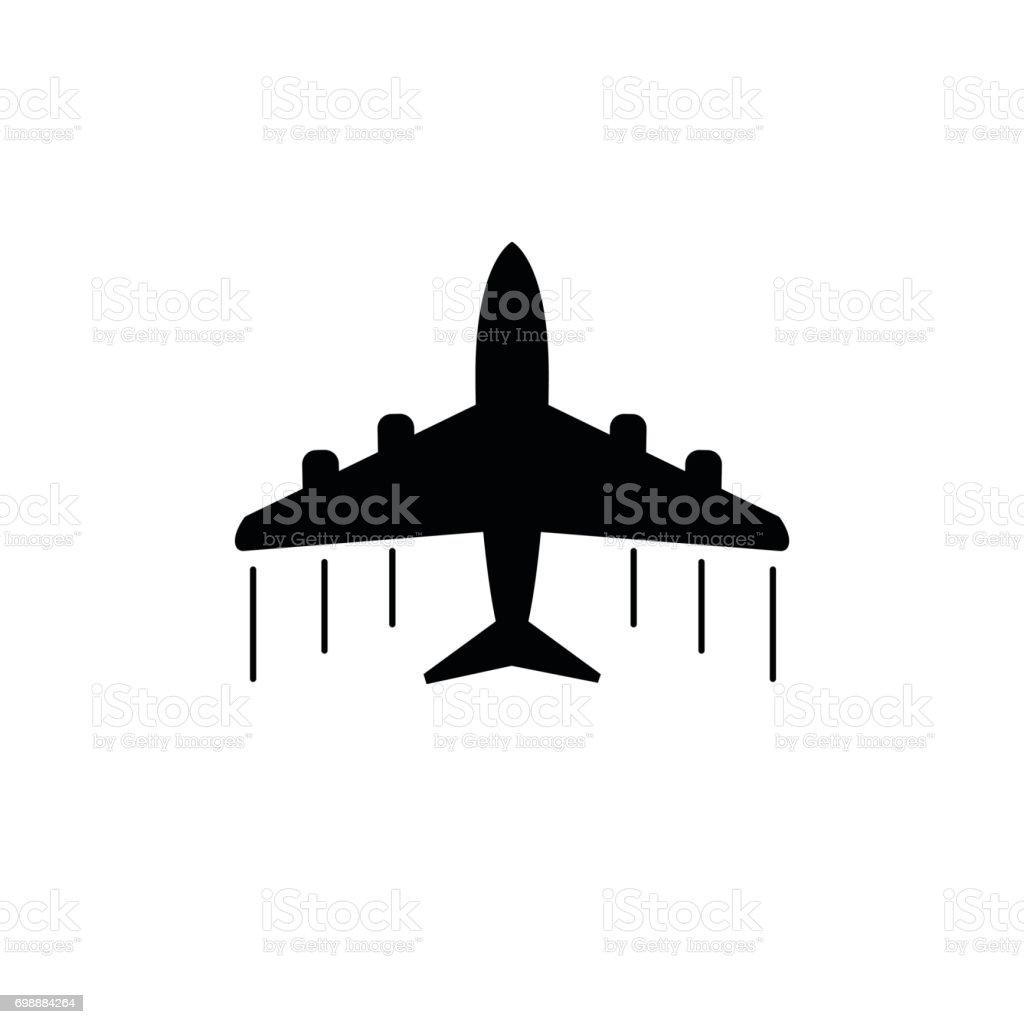 Plane icon. Airplane flat vector illustration vector art illustration