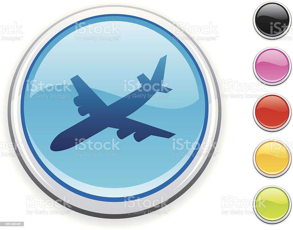 Plane icon royalty-free stock vector art