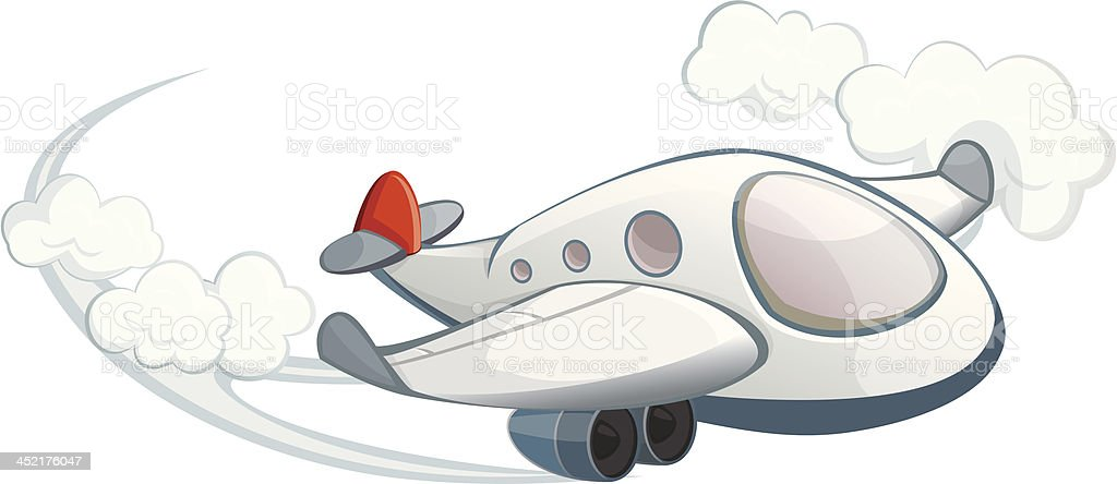 plane in the sky royalty-free stock vector art