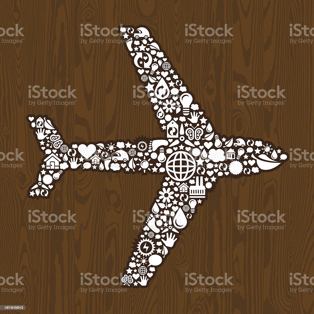 Plane of the wood royalty-free stock vector art