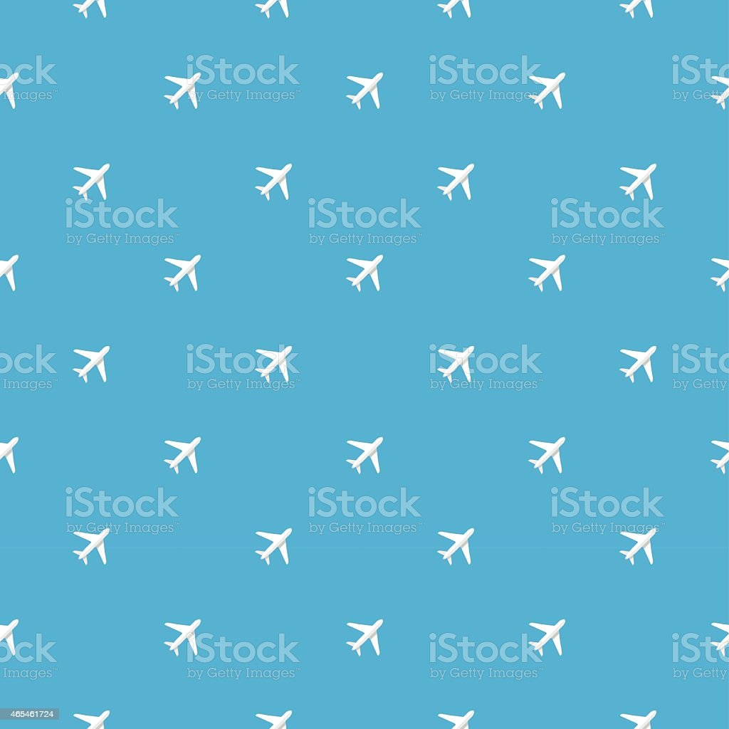 plane pattern vector art illustration