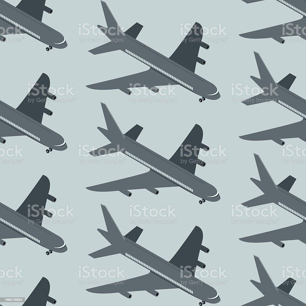 Plane seamless texture vector art illustration