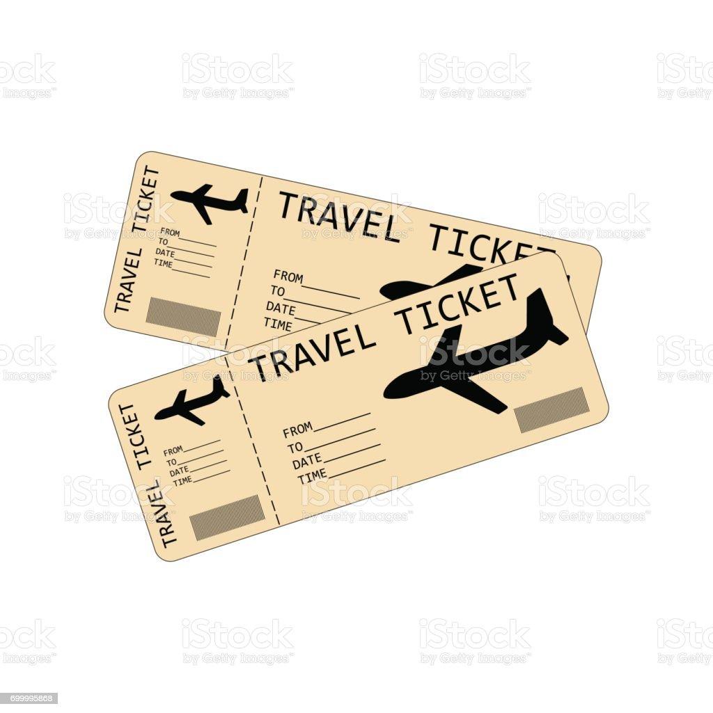 Plane tickets illustration vector art illustration