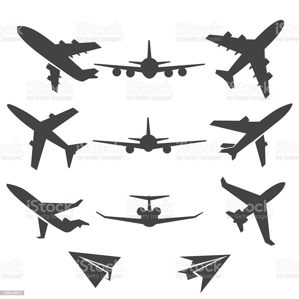 Plane vector icons vector art illustration